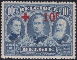 Belgie    .    OBP   .  163  (2 Scans)     .  **  .    Postfris ZONDER  Charnier    .  / .  Neuf SANS  Charniere - 1918 Rotes Kreuz