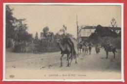 AFRIQUE - MAROC - Tanger - Route De Fez - Caravane - Tanger
