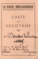 Vieux Papiers > Cartes > Non Classés Carte De Societaire La Ruche Montluconnaise - Non Classés