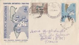 Polaire Argentin, 7 DE 64  N° 683, PA 86 Obl. C.T. Matienzo Sur Env. Campagne 63-64 - Argentina