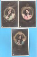 Superbe Ensemble 3 CPA-+/-1900-Jeune Fille-Foi-Amour-Tendresse-Photo-Montage-Surréalisme-série 257  MUSTERSCHUTZ - Femmes