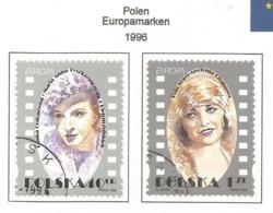 Polen / Polska  1996  Mi.Nr. 3584 / 3585 , EUROPA CEPT - Berühmte Frauen - Gestempelt / Fine Used / (o) - 1996