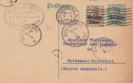 Bruxelles Vers Watermael-Boitsfort / Cachet Privé Architecte De Groef - German Occupation