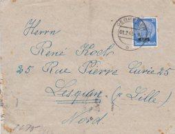 L4D011 France Lettre Alsace Occupée Pour La France Guebwiller Pour Lesquin Nord Censure Alsace Lorraine 01 02 1941 - Storia Postale