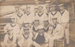 Postcard Royal Navy Sailors From HMS High Flyer Group Photo Circa WW1 My Ref  B13655 - War 1914-18