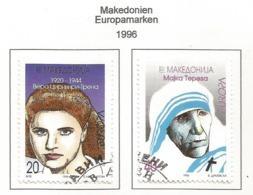 Makedonien 1996  Mi.Nr. 74 / 75 , EUROPA CEPT - Berühmte Frauen - Gestempelt / Fine Used / (o) - 1996