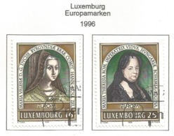 Luxembourg / Luxemburg 1996  Mi.Nr. 1390 / 1391 , EUROPA CEPT - Berühmte Frauen - Gestempelt / Fine Used / (o) - 1996