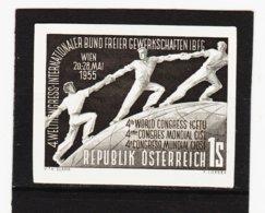 HSE161 ÖSTERREICH 1955 SCHWARZDRUCK MICHL 1018  OHNE GUMMI Siehe ABBILDUNG - 1945-.... 2nd Republic