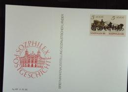 DDR: Sonder-Gs-Karte Mit ZusDr 5/5 Pf Personenpostwagen Anläßl. Der SOZPHILEX 85 Drzeichen: AG 400 III 18 185 Knr: SK I - [6] República Democrática