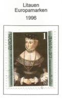 Litauen / Lietuva 1996  Mi.Nr. 608 , EUROPA CEPT - Berühmte Frauen - Gestempelt / Fine Used / (o) - 1996
