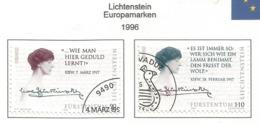 Liechtenstein 1996  Mi.Nr. 1124 / 1125 ,  EUROPA CEPT - Berühmte Frauen - Gestempelt / Fine Used / (o) - 1996