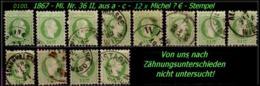 Österreich - Mi. Nr. 36 II - 12 X In Sauber Gebraucht - - Gebruikt
