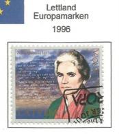 Lettland / Latvija 1996  Mi.Nr. 423 , EUROPA CEPT - Berühmte Frauen - Gestempelt / Fine Used / (o) - 1996
