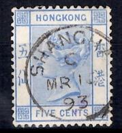 Hong-Kong YT N° 37 Belle Oblitération Shangaï (Chine). Rare! B/TB. A Saisir! - Used Stamps