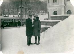 Photo Originale Couple Moscou Russie Tramway - Ethnics