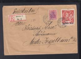 Dt. Reich R-Brief 1923 München Nach Nieder-Ingelheim - Deutschland