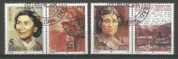 Jugoslawien 1996  Mi.Nr. 2777 / 2778 , EUROPA CEPT - Berühmte Frauen - Mit Label - Gestempelt / Fine Used / (o) - 1996