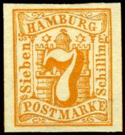 Hamburg. Michel #6. Mint. OG. VF. - Hamburg
