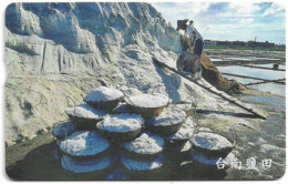 Taiwan - Chunghwa Telecom (Chip) - Working In The Salt Fields - 100U, 2008, Used - Taiwan (Formosa)
