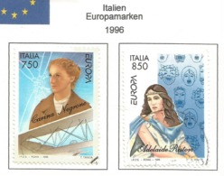 Italien / Italia 1996  Mi.Nr. 2432 / 2433 , EUROPA CEPT - Berühmte Frauen - Gestempelt / Fine Used / (o) - 1996