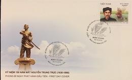 FDC Vietnam Viet Nam 2018 : 150th Death Anniversary Of Nguyen Trung Truc (Ms1099) - Vietnam
