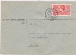 1937 PRO JUVENTUTE → Brief Ins (P.Hunziker Notar) Nach Zürich - Lettres & Documents