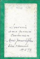 Canivet Lieu-Saint-Amand (59) Marie-Jeanne Lefebvre Première Communion 2scans 19-05-1977 10,5 X 6,3 Cm - Images Religieuses