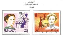 Jersey 1996  Mi.Nr. 735 / 736 , EUROPA CEPT - Berühmte Frauen - Gestempelt / Fine Used / (o) - 1996