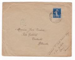 868/29 - Enveloppe TP Semeuse Postes Militaires Belges 1916 Vers Le Célèbre Passeur Jean Tordeur à DORDRECHT NL - Marcofilie (Brieven)