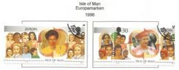 Isle Of Man 1996  Mi.Nr. 674 / 675 , EUROPA CEPT - Berühmte Frauen - Gestempelt / Fine Used / (o) - 1996