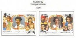 Guernsey 1996  Mi.Nr. 691 / 692 , EUROPA CEPT - Berühmte Frauen - Gestempelt / Fine Used / (o) - 1996