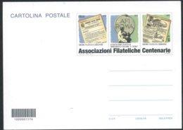 2014 Italia Cartolina Postale Associazioni Filateliche Citaliane Centenarie Nuova (**) - 6. 1946-.. Repubblica