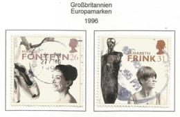 Großbritannien 1996  Mi.Nr. 1648 / 1649 , EUROPA CEPT - Berühmte Frauen - Gestempelt / Fine Used / (o) - 1996