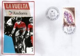 LA VUELTA España 2019, Etapas De Andorra 1-2 De Septiembre De 2019, Sobre De Recuerdo De Su Paso En El Principado - 1931-Hoy: 2ª República - ... Juan Carlos I