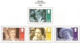Gibraltar 1996  Mi.Nr. 755 / 758 , EUROPA CEPT - Berühmte Frauen - Gestempelt / Fine Used / (o) - 1996