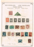Terre Neuve New Foundland. Ancienne Colection. Old Collection. Altsammlung. Oude Verzameling. - Sammlungen (ohne Album)