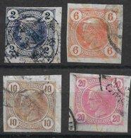 1530k2: Austria 1899, ANK 101- 104 (148.- €) - Gebruikt