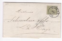 872/29 - Lettre TP 47 ANVERS 1891 Vers LA HAYE - TARIF PREFERENTIEL NL 20 C - Entete Joseph Le Grelle - 1884-1891 Léopold II