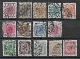 1530j: Austria 1904, ANK 105- 118 (40.- €) - Gebruikt