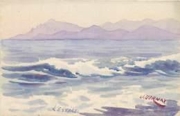 83 , Carte Peinte Ou Aquarélle De J Vernay , L'esterel , * 432 43 - Francia