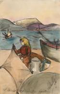83 , Carte Peinte Ou Aquarélle , Ajaccio Coin Du Port , * 432 44 - Ajaccio