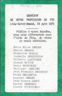 Lieu-Saint-Amand (59) Derche Herbin Bobail Larivière Bustin Carlier Decaudin Delacroix 2scans 15-06-1975 12,4 X 7,6 Cm - Images Religieuses