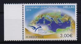 GREECE STAMPS EUROMED POSTAL/THE MEDITERRANEAN ( PERFORATED ALL AROUND)  -2014-MNH-COMPLETE SET - Ongebruikt