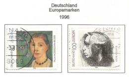 Deutschland 1996  Mi.Nr. 1854 / 1855 , EUROPA CEPT - Berühmte Frauen - Gestempelt / Fine Used / (o) - 1996