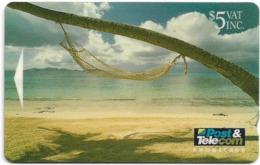 Fiji - Hammock By The Sea - 02FJC - 1993, 10.000ex, Used - Fiji