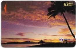 Fiji - Palm Tree At Sunset 2 - 31FKB - 2000, Used - Fiji