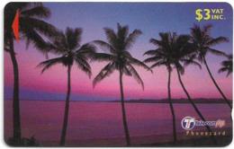 Fiji - Palms 3 Dawn To Dusk - 32FJB - 2000, Used - Fiji