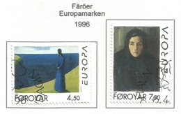 Färöer 1996  Mi.Nr. 296 / 297 , EUROPA CEPT - Berühmte Frauen - Gestempelt / Fine Used / (o) - 1996