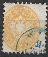 1530i1: Österreich 1863, Weite Zähnung 9 1/2, ANK 30 A Hellgelb (30.- €) - Gebruikt