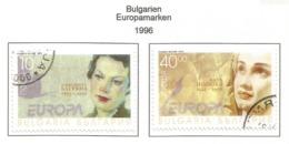 Bulgarien / Bulgaria  1996  Mi.Nr. 4223 / 4224 , EUROPA CEPT - Berühmte Frauen - Gestempelt / Fine Used / (o) - 1996